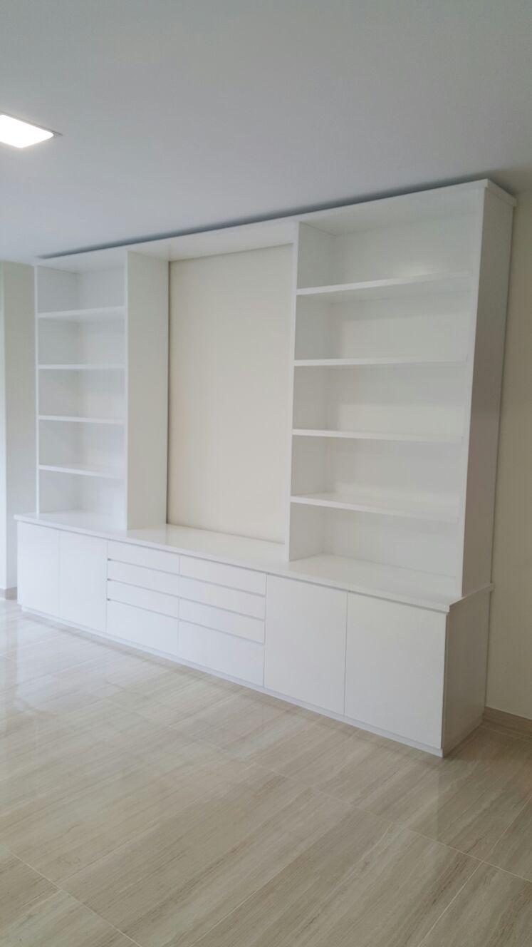 Mueble Alacena Lacado Blanco.