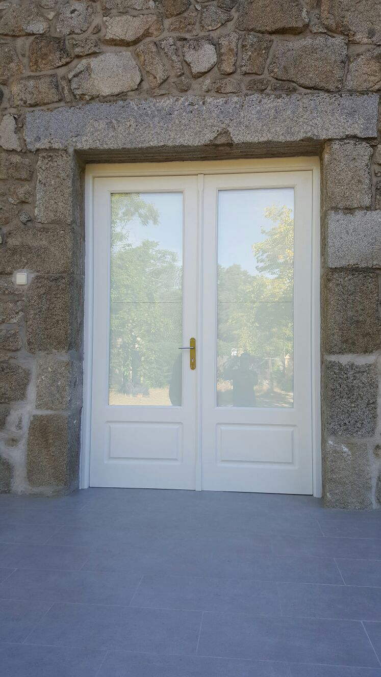 Puerta Entrada Doble Hoja Vidriera.
